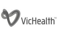 Vic Health logo grey
